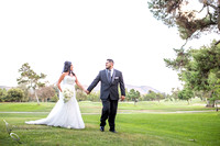 Sweet couple on the golf court at Pala Mesa Resort