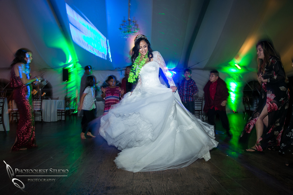 bride dancing away